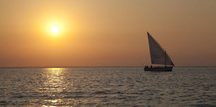 Imagine sailing off into the gold Mozambiquan sunset on a real dhow...