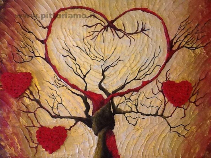 quadro realizzato dal pittore contemporaneo SIMONASARACENO - L'albero dell'amore