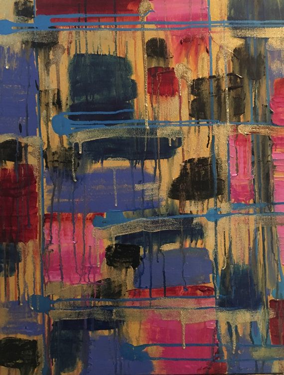 Daisy - Beautiful, Abstract, Original, Canvas, Painting, Modern, Tapestry, Pink, Blue, Red, Black, Yellow, Glitter,  https://www.etsy.com/listing/277472656/daisy-beautiful-abstract-original-canvas?utm_source=OpenGraph&utm_medium=PageTools&utm_campaign=Share