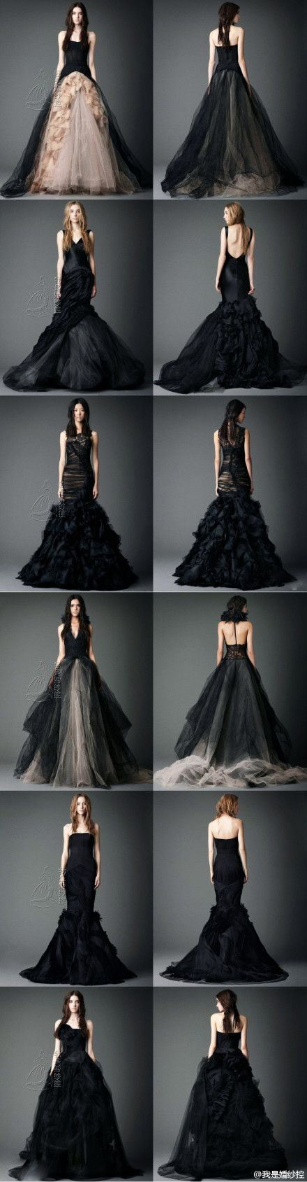 Black wedding dress collection by Vera Wang #wedding #gown