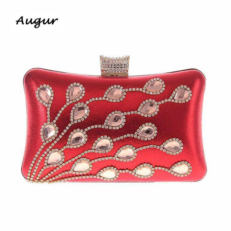 Ladies Luxury Diamond Evening Party Bag Women Wedding Banquet Brand Designer Clutch Bags 7 color