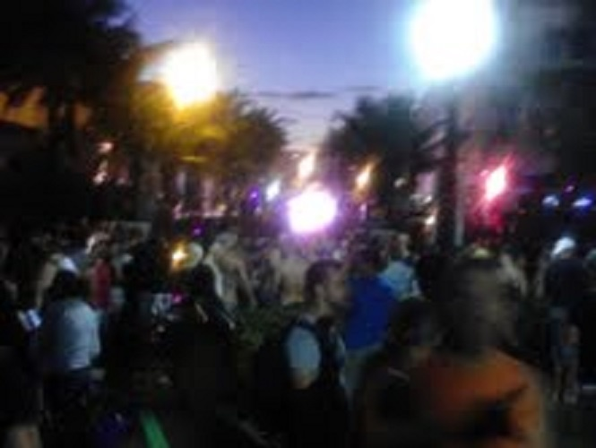WINTER PARTY IS A WEEK LONG LGBT (LESBIAN GAY BI TRANS) EVENT. SOMETHING LIKE 100 THOUSAND PEOPLE COME INTO TOWN FOR THIS. ONLY IN MIAMI.
