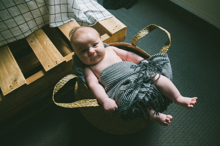 My baby in a basket