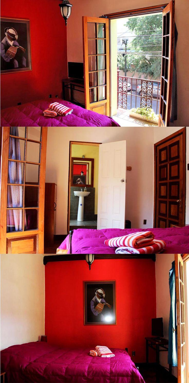 la pieza numero 5 del aji hostel en santiago de chile, bueno para alojarse unos dias mientras tanto que estas en santiago viajando y descubriendo!