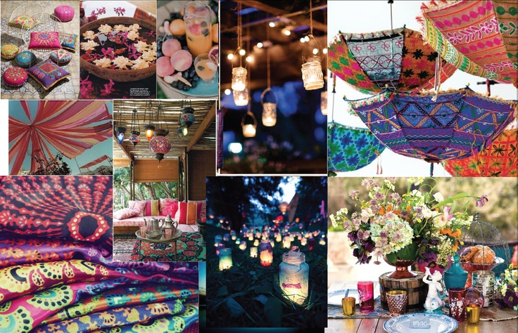 boho party | fete | Pinterest | Hanging candle holders ...