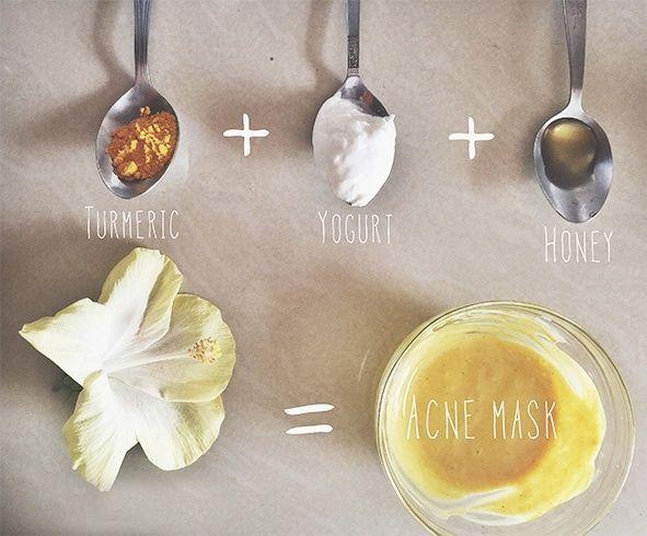 Yogurt, Honey and Turmeric Face Pack #simplefacemasksdiy