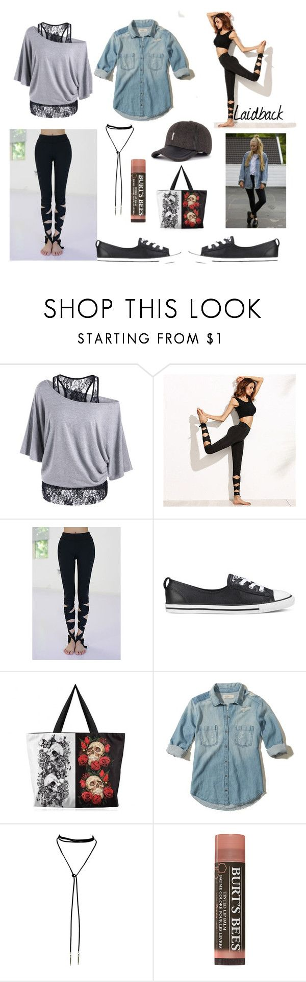 laidback athletic by paisleyvelvetandlace on Polyvore featuring Hollister Co. and Converse