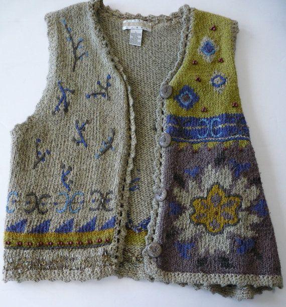 Vintage Sigrid Olsen Sport ladys hand knit by AbbysTreasures