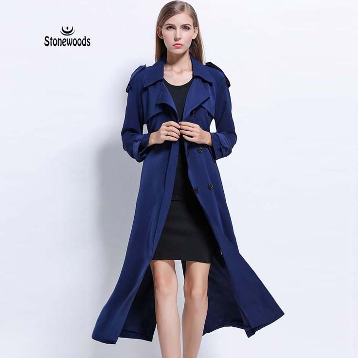 Trench Coat For Women Basic Coats British Style Autumn Winter Vintage Casual Trench Coat Long Plus Size Peacoat Women Basic Coat
