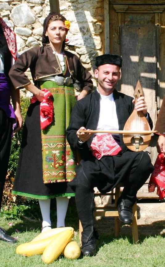 Traditional Greek costumes of Kosti and the neighbouring village of Brodivo (NE Thrace, near Burgaz, southern Bulgaria).  Following the Balkan Wars, the village was ceded to Bulgaria by the Ottoman Empire, and the local Greeks moved to Greece, particularly Greek Macedonia and northern Greece, in 1924.