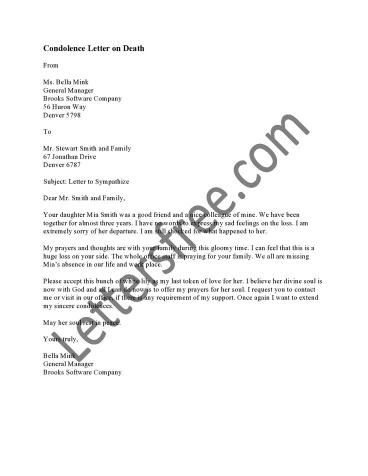 termination letter bank account guarantee cancellation format - condolence letter sample