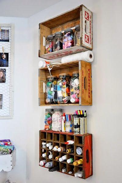 Decorar con cajas de madera recicladas - Cajas de madera recicladas ...