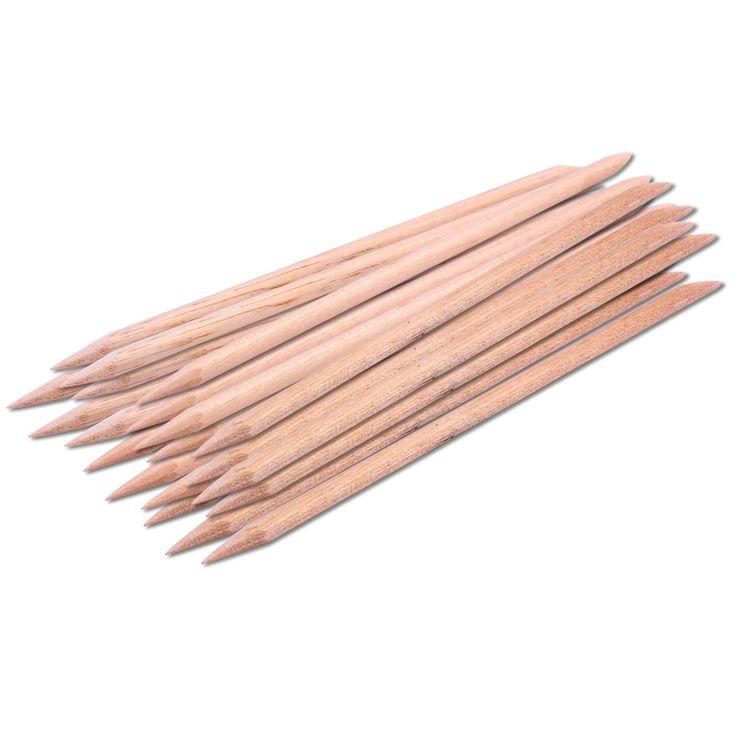 20 pcs orange varas empurrador de cutícula removedor de cutícula para nail art cuidados manicure ferramentas unhas angular orange dupla face de madeira vara
