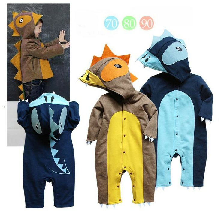 Hot-selling 2013 new 3size/1lot autumn Boys long sleeve dinosaurs modelling jumpsuits,baby wear,freeshipping $36.58