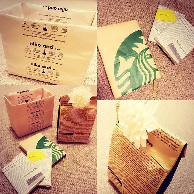 可愛いショップの紙袋活用法★  niko andのは、内側に紙袋を折りたたみ、厚紙で強度をプラスしてメイクポーチ入れに。  スタバとヒッチハイクマーケットのはブックカバーに。  英字紙袋はレターや書類入れに。  気分次第で捨てれるしアレンジ自在♪ ゴミ箱にすればそのまま捨てれる♪(ゴミ箱感あるの嫌いだから)  #オシャレな袋#紙袋#ショップ袋#ブックカバー#スタバ#ヒッチハイクマーケット#nikoand#活用法#手作り#bookcover#box#ハンドメイド#簡単#paperbag#starbacks#