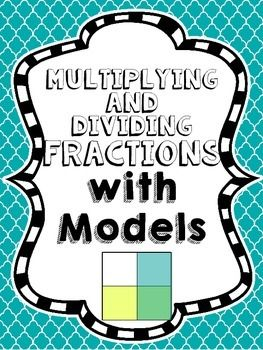 This is a set of 12 posters that show students how to draw models for multiplying and dividing fractions using the traditional rectangular models and using number lines.I have also included 2 posters that help students understand situations that require each operation and a taking a closer look at equations.