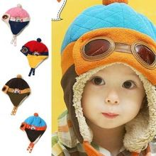 O mais baixo Preço! crianças Cool Boy Girl Bebê Crianças Infantil Inverno Piloto Aviador Cap Quente Hat Bomber(China (Mainland))