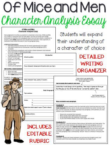 Looking for a writing activity that involves in-depth character analysis? This essay assignment gives students the opportunity to write about a character of choice within the novel, and provide some background details and inquiry.