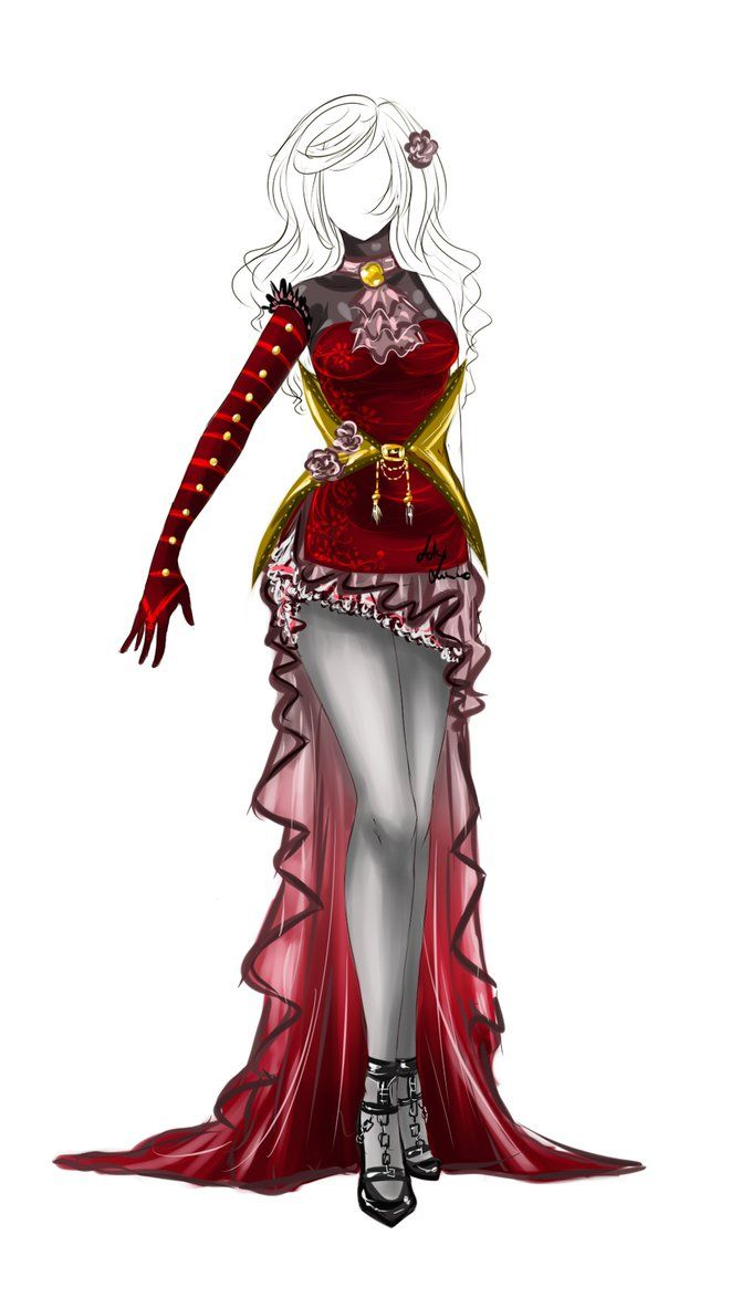 reminds me of the queen of hearts Outfit design - 31 - closed by LotusLumino