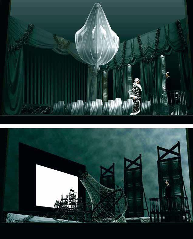 The Cherry Orchard. Nizhny Novgorod Drama Theatre. Scenic design by Alexander Orlov. 2012