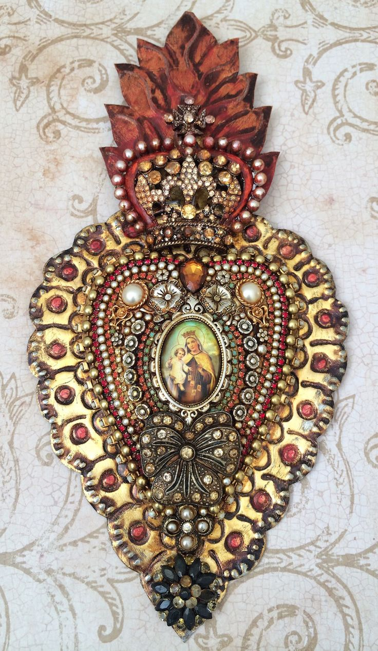 Laurie Mika-beaded sacred heart