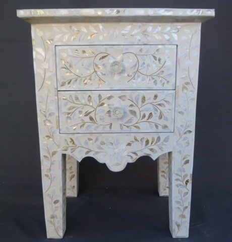 Nice Indian Mother Of Pearl Inlay Furniture Bedside Table