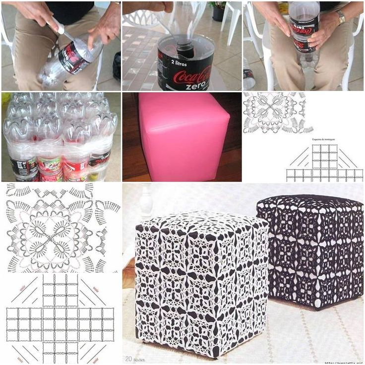 How To Make Ottoman Out Of Plastic Water Bottles Step By