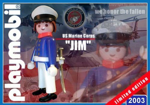 """US Marine """"Jim"""" // The image and figures do not necessarily reflect the opinion of Playmobil. #playmobilcustom"""