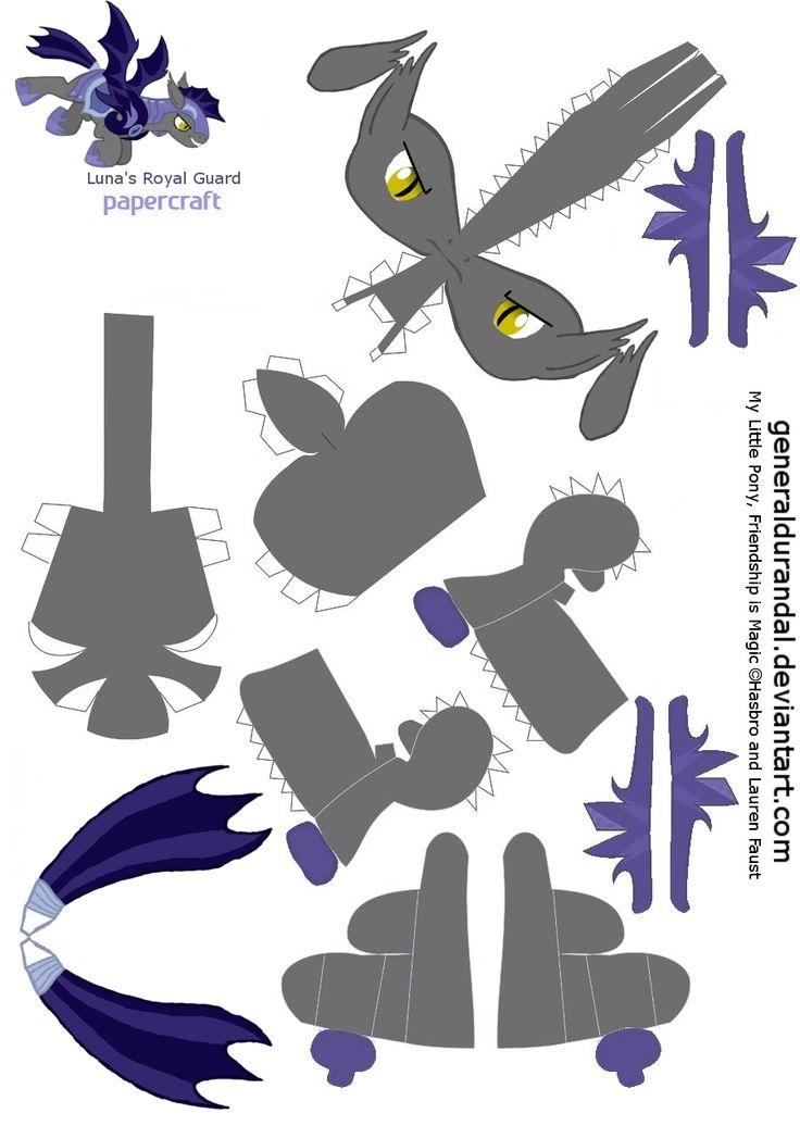 Luna's Royal Guard for PaperCraft 1 by GeneralDurandal.deviantart.com on @deviantART