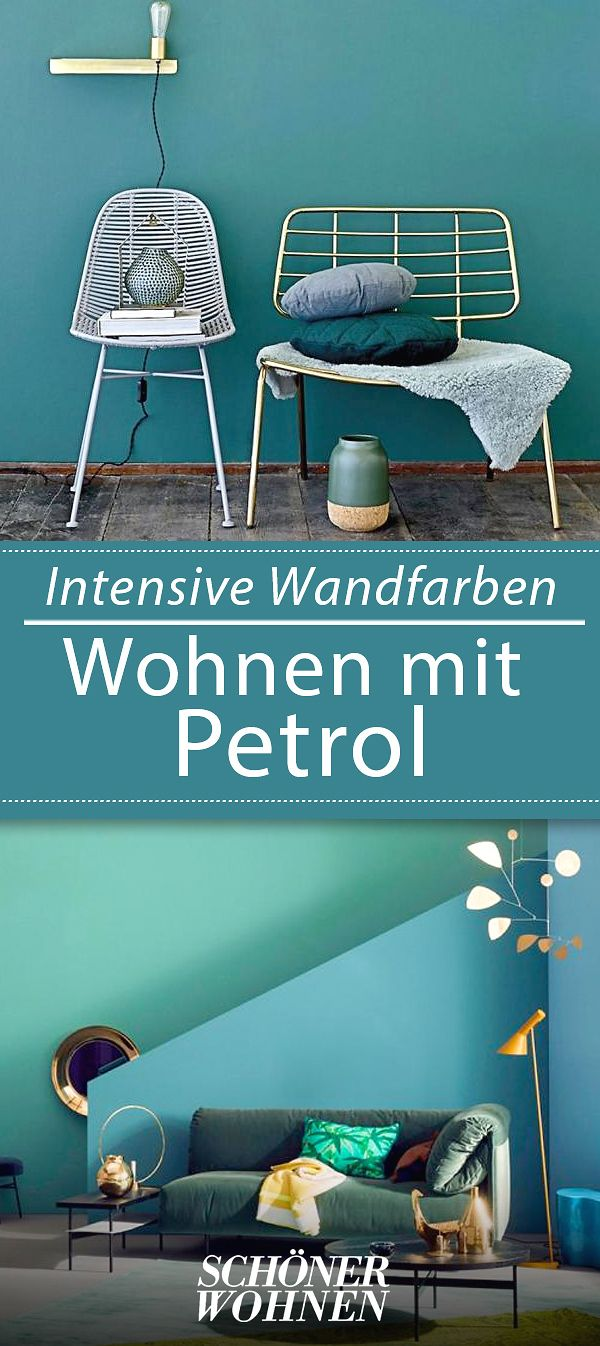 petrol als wandfarbe so wird sie kombiniert dunkle. Black Bedroom Furniture Sets. Home Design Ideas