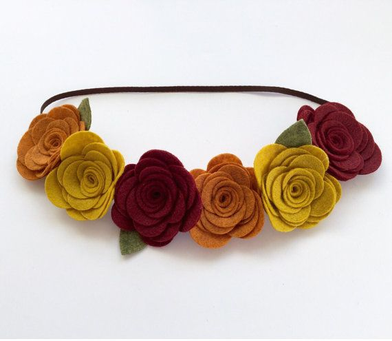Felt Flower Headband Felt Flower Felt by UponAStarBowtique