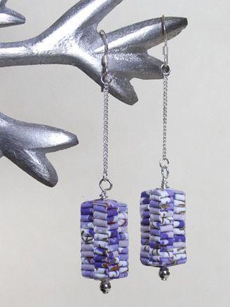 magazine paper earrings
