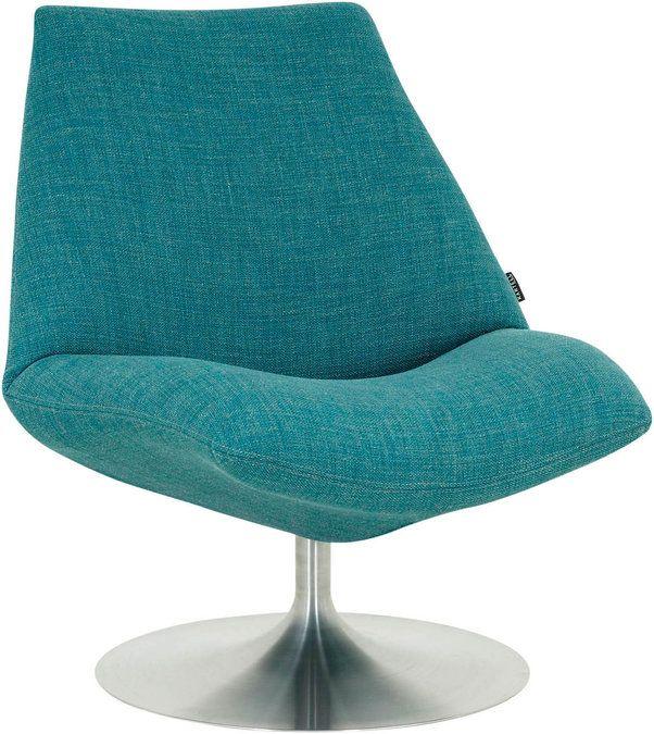 Low, een heerlijke fauteuil om lekker te ontspannen. Het is dan ook geen toeval dat fauteuil Low een heerlijk zitcomfort biedt. Het mooie ronde ontwerp vormt een mooi contrast met de stijlvolle RVS draaischijf. Deze speciale uitvoering in turquoise weefstof zal iedere zithoek opfleuren. Het ijzersterke metalen frame in combinatie met de solide nosagvering maken fauteuil Low uiterst duurzaam.