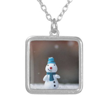 Winter Christmas Snow Toy Silver Plated Necklace - jewelry jewellery unique special diy gift present