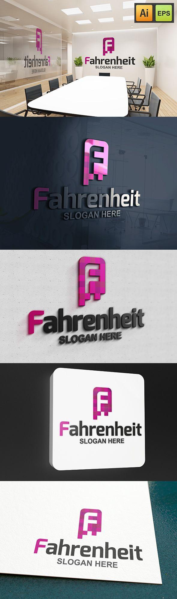 """@Behance projeme göz atın: """"F Letter Logo - Fahrenheit Logo""""…"""