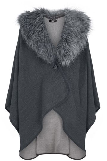 Reversible Fur Collar Cape - something like this