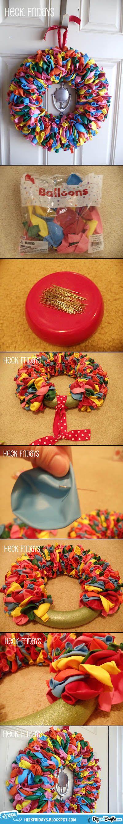balloon wreath tutorial