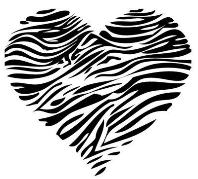 Little Girls Bedroom Wall Graphic Kids Vinyl Sticker Zebra Heart Animal Print | eBay