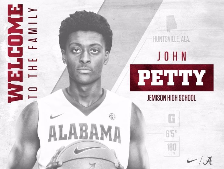 "Welcome @jpetty2324 to the University of Alabama! John comes to #Alabama from Mae Jemison HS in Huntsville, Ala.  - pic via ""Alabama M Basketball"" on Twitter #Alabama #RollTide #Bama #BuiltByBama #RTR #CrimsonTide #RammerJammer #BuckleUp"