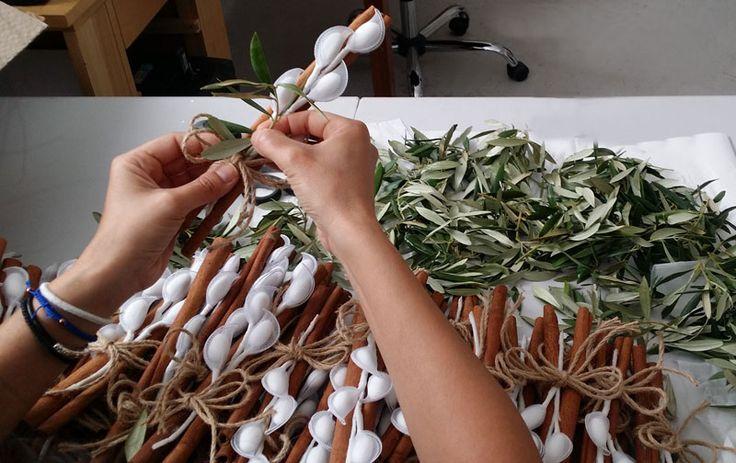 Back to work! #greekweddingfavors #lovemyjob #bombonieres #olive @preciousandpretty