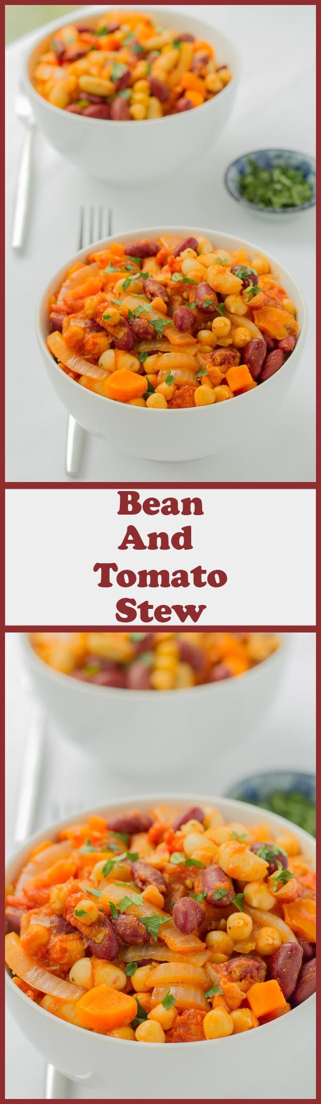 This bean and tomato stew recipe is an easy, delicious one pot solution for when you need a quick healthy meal on the table yesterday! High in dietary fibre and bursting flavour, it's sure to satisfy hungry tums.