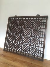 Chinese Antique Window Panel. Architectural Salvage, Fretwork Screens, Shutters,