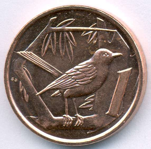 Grand Cayman Thrush on Cayman Islands 1 cent coin, currently in use.  Grand Cayman Thrush – Turdus ravidus, GC endemic, is extinct. This was the only Cayman Islands endemic bird species, as opposed to subspecies, and was last recorded in 1938, by C. Bernard Lewis, on the Oxford University Biological Expedition to the Cayman Islands. Photo in CaymanWildlife - Google Photos