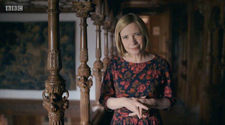 Dr Lucy Worsley looking Wonderful (of course.)