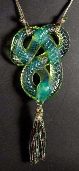 A vintage Lalique glass pendant Google+