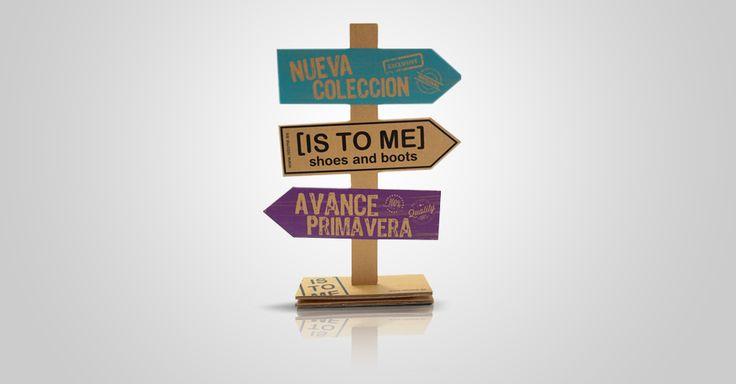 Is to me PLV en madera y serigrafía.