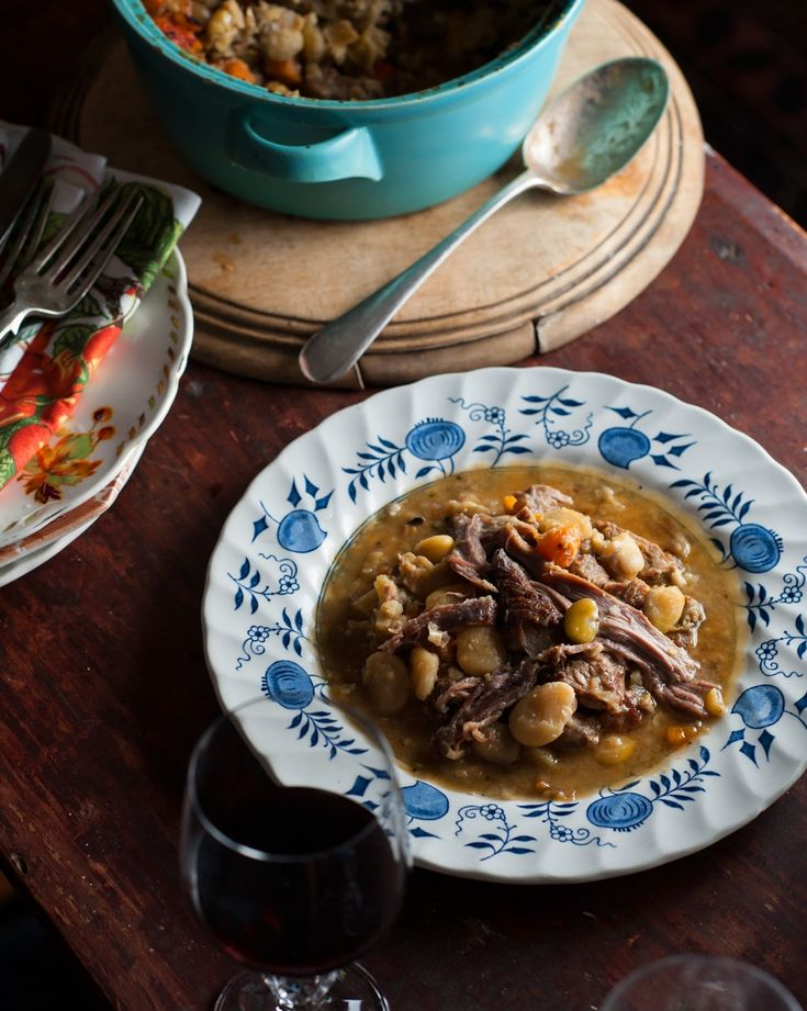 Lamb and dried broad bean cassoulet