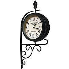 Outdoor Victorian Station Garden Clock Wall Mounted