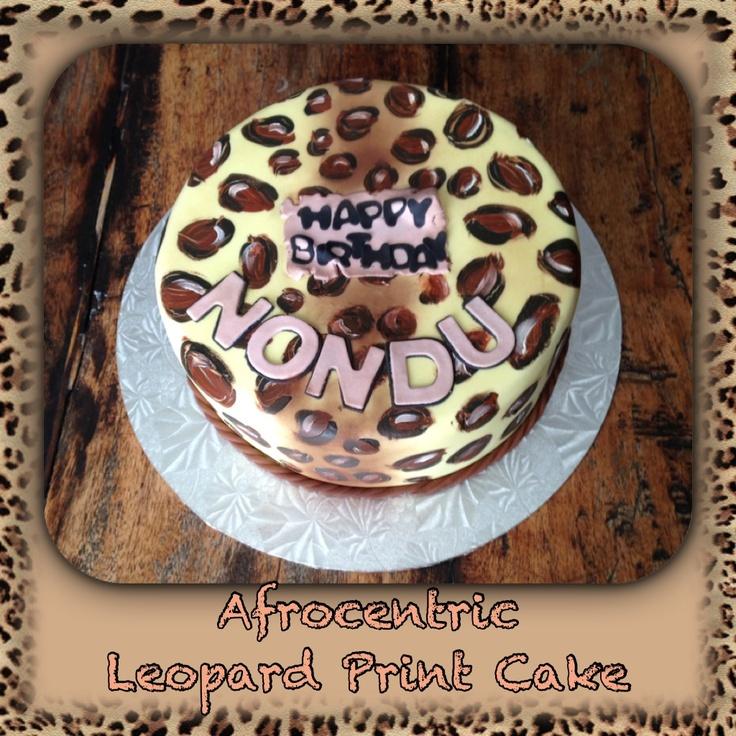 Afrocentric leopard print cake