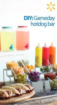 DIY Game Day Hot Dog Bar